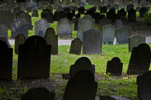"""""""Boston cemetery,"""" © 2009 Dixie Lawrence, used under a Creative Commons Attribution-NonCommercial-NoDerivs license."""
